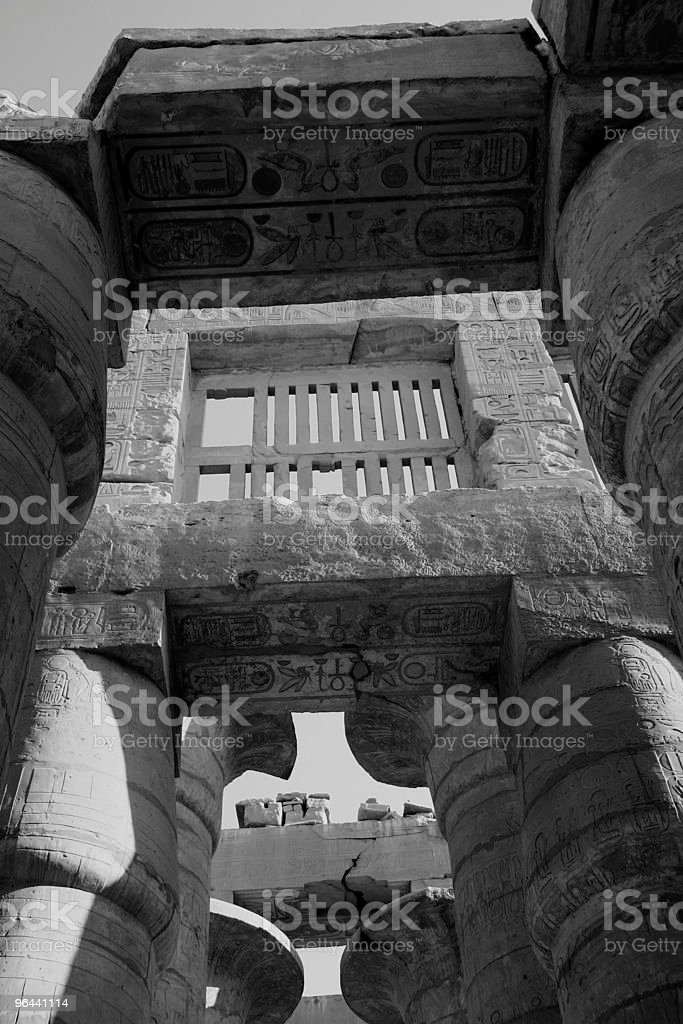 Great Hypostyle Hall, Karnak Temple, Luxor, Egypt royalty-free stock photo