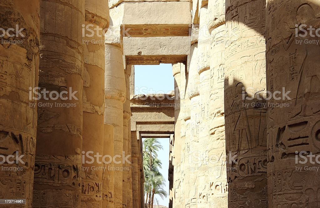 Great Hypostyle Hall of the Karnak Temple, Luxor, Egypt. stock photo