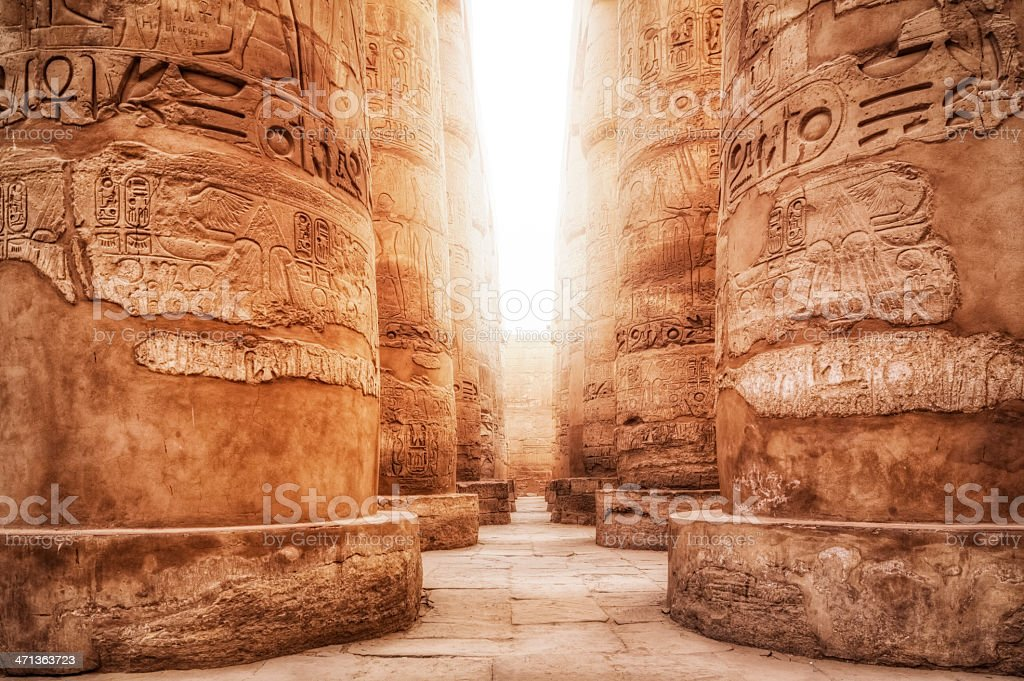 Great Hypostyle Hall / Precinct of Amun-Re ( Karnak Temple Complex ) royalty-free stock photo
