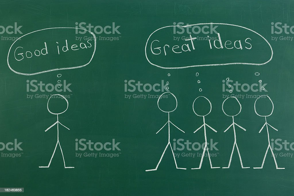 Great Ideas with Teamwork royalty-free stock photo