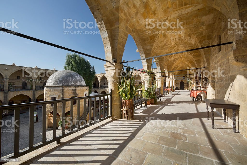 Great Inn (Buyuk Han) in Nicosia (Lefkosa), Cyprus stock photo