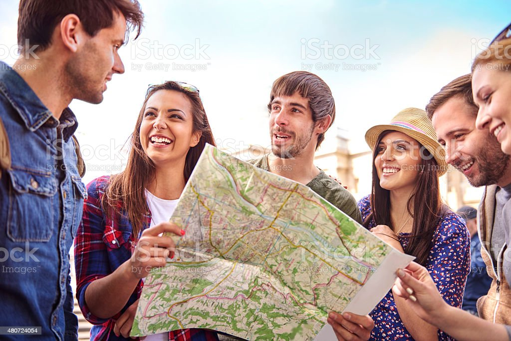 Great journey only with my best friends stock photo