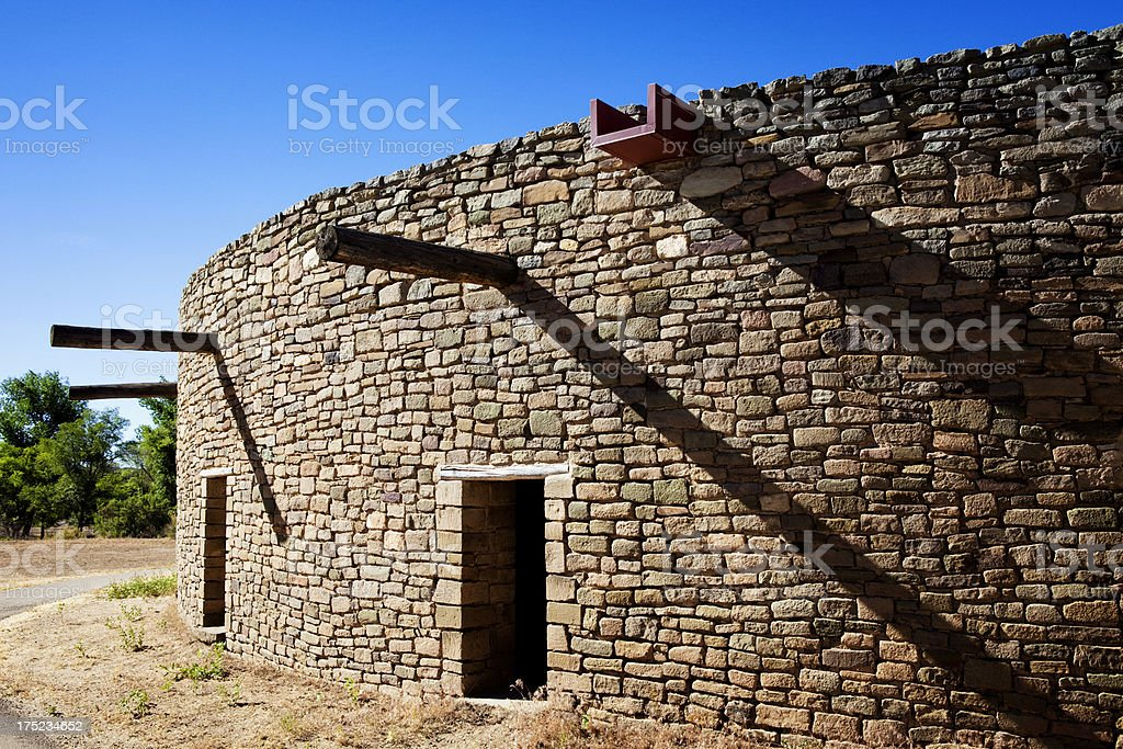 Great Kiva at Aztec Ruins National Monument royalty-free stock photo