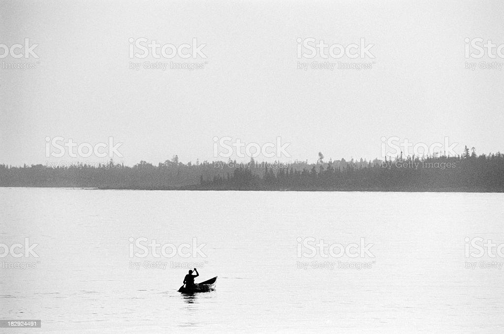 Great Lake Canoeist royalty-free stock photo