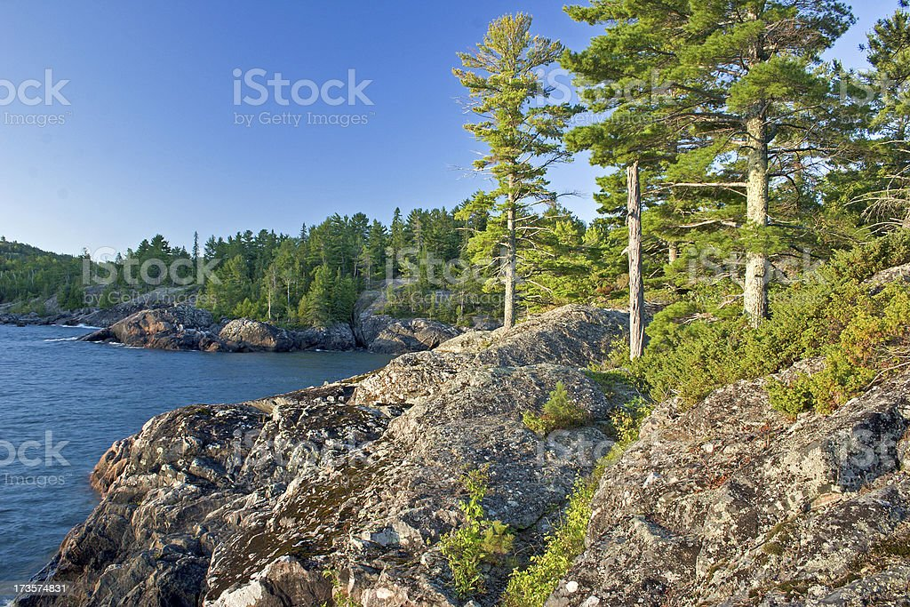 Great Lakes Coastal Landscape stock photo