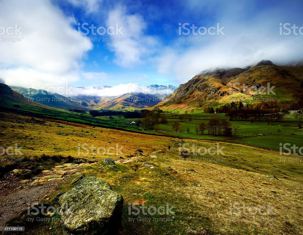 Great Langdale Valley stock photo