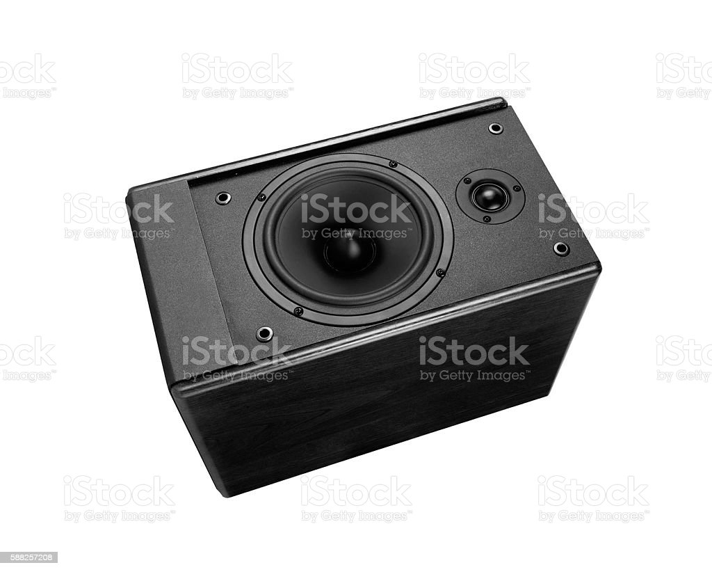 Great loud speaker isolated on white. stock photo