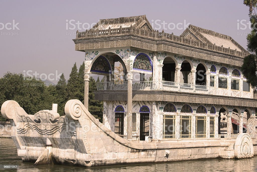Great Marble Boat of Summer Palace royalty-free stock photo