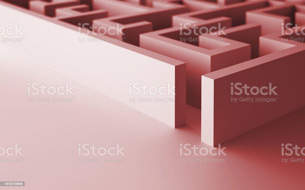 Great Maze stock photo