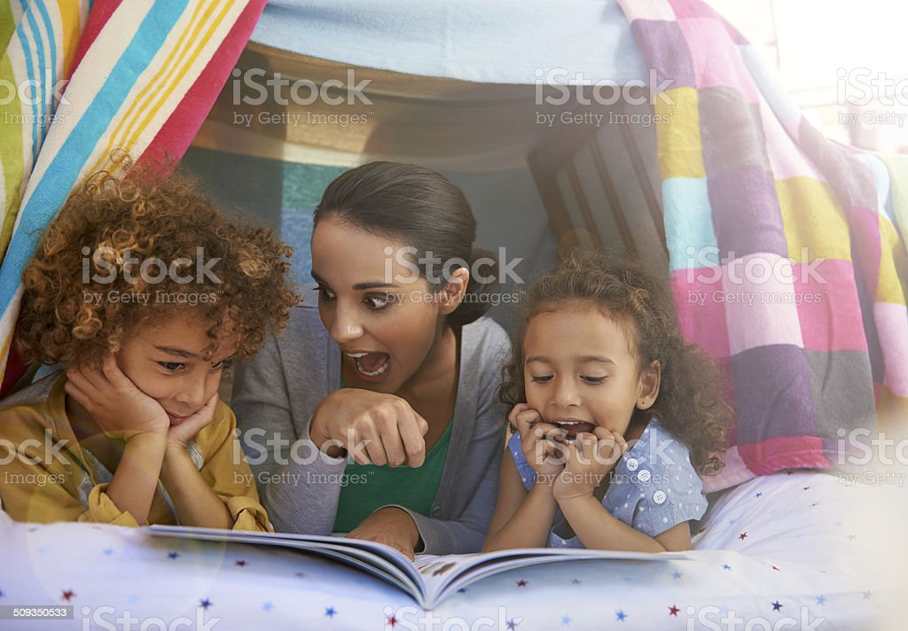 Great moms do the voices stock photo