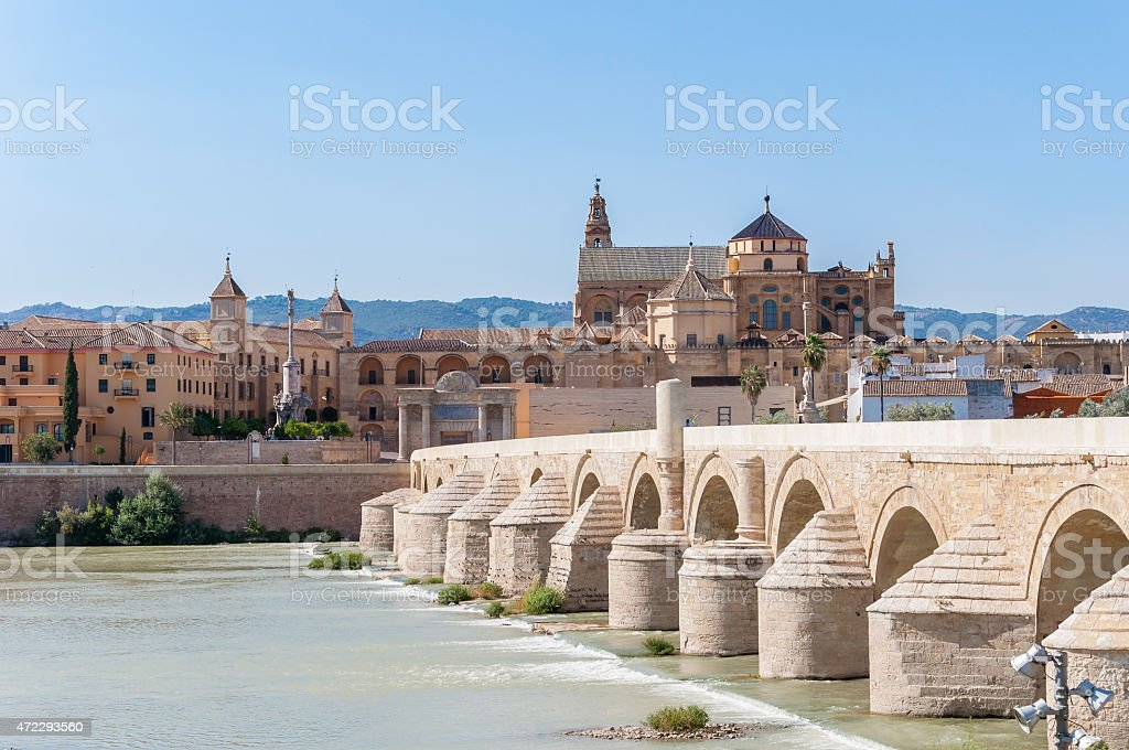 Great Mosque of Cordoba in Spain stock photo