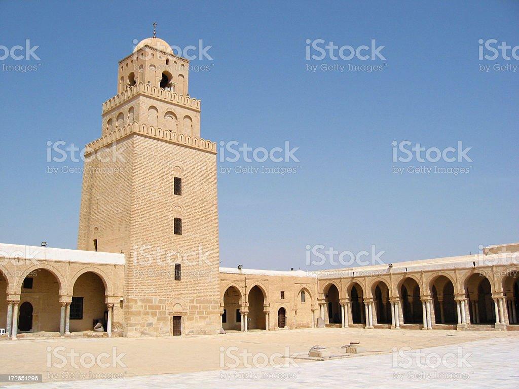 Great Mosque of Kairouan - Minaret royalty-free stock photo