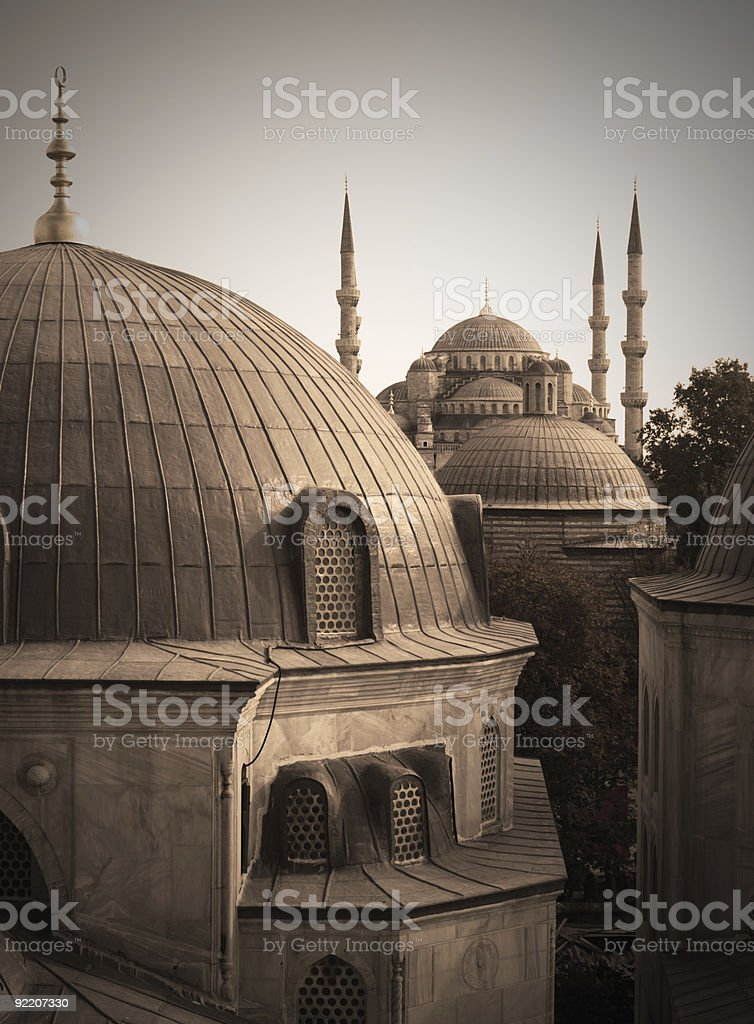 Great Mosques, Istanbul royalty-free stock photo