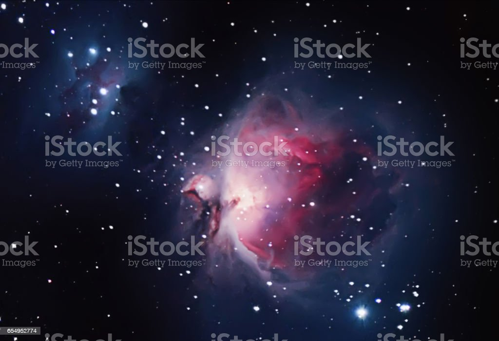Great Nebula in Orion, Messier 42 stock photo