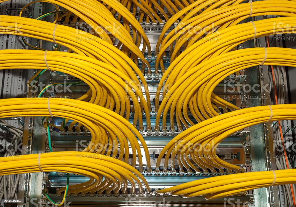 Great network distributor in a datacenter stock photo
