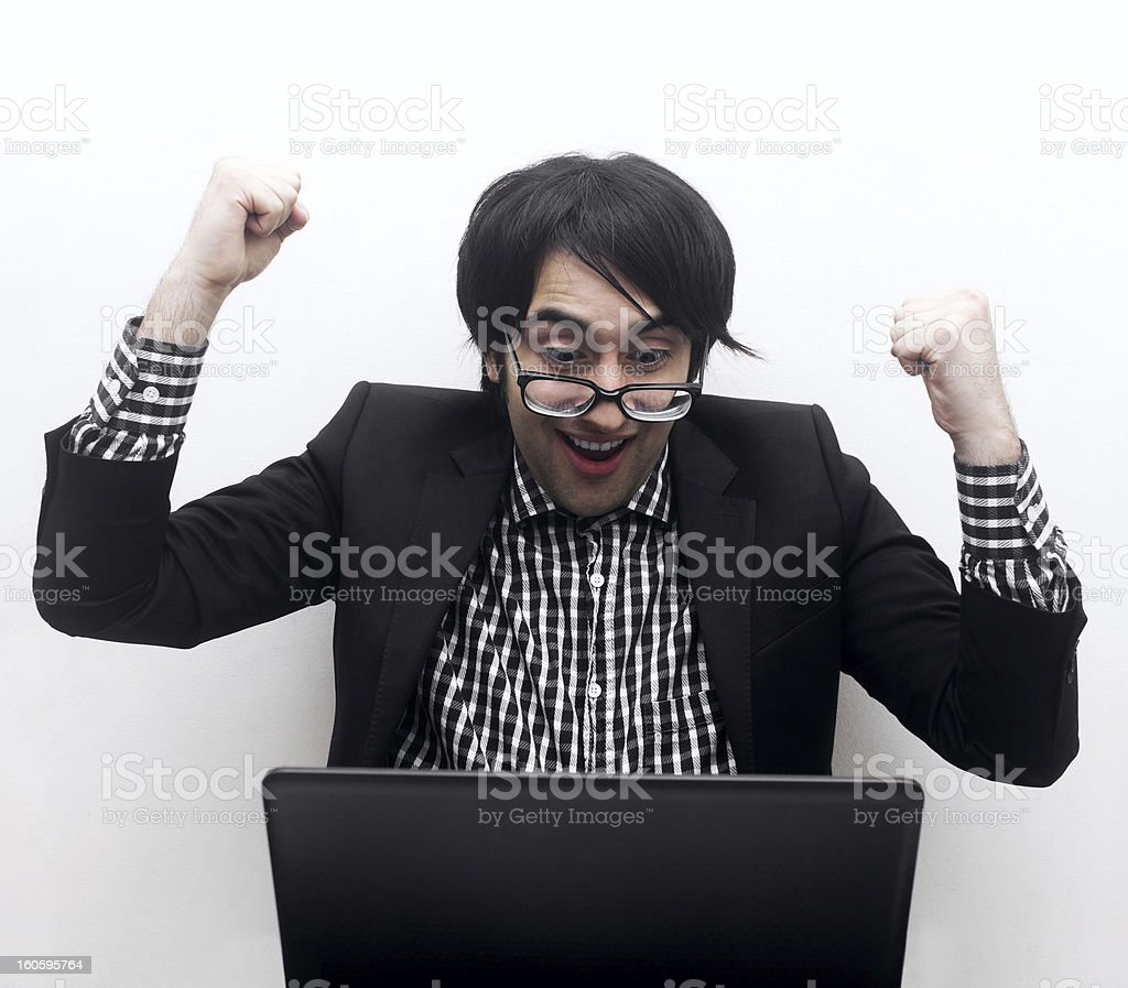 Great News royalty-free stock photo