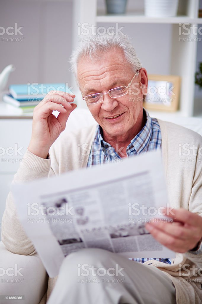 Great news! stock photo