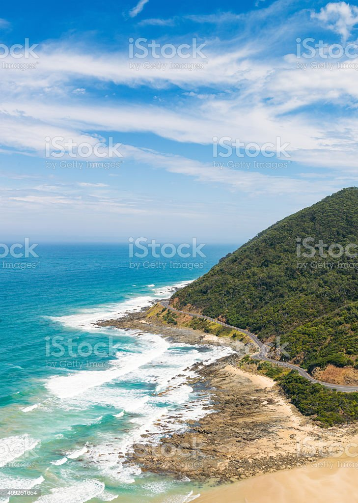 Great Ocean Road Scenic stock photo