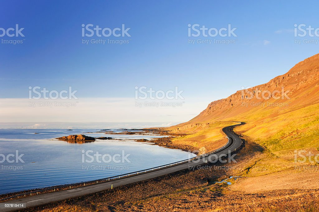 Great Ocean Road, Westfjords of Iceland stock photo