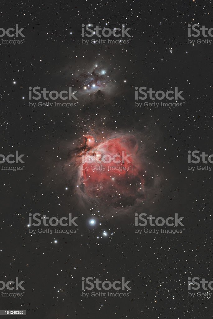 Great Orion Nebula - Wide View stock photo