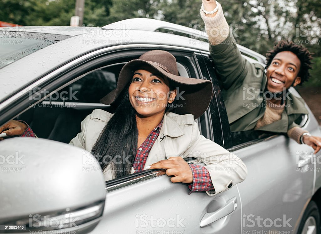 Great parking lot stock photo