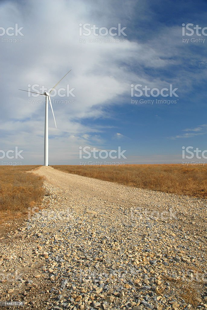 Great Plains Wind Farm royalty-free stock photo