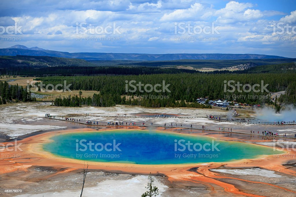 Great Prismatic Spring stock photo