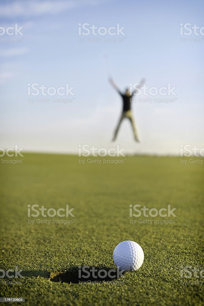 Great Putt! royalty-free stock photo