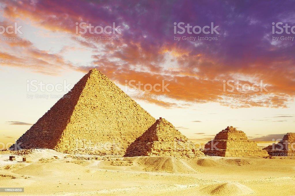 Great Pyramid    located at Giza royalty-free stock photo