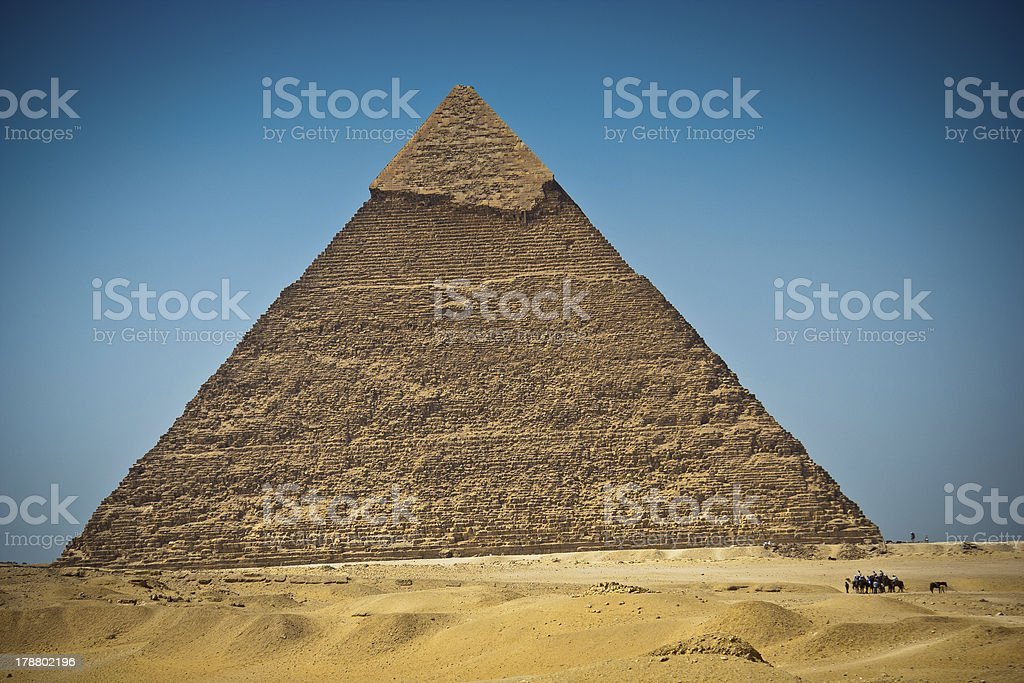 Great Pyramid of Giza, Egypt stock photo