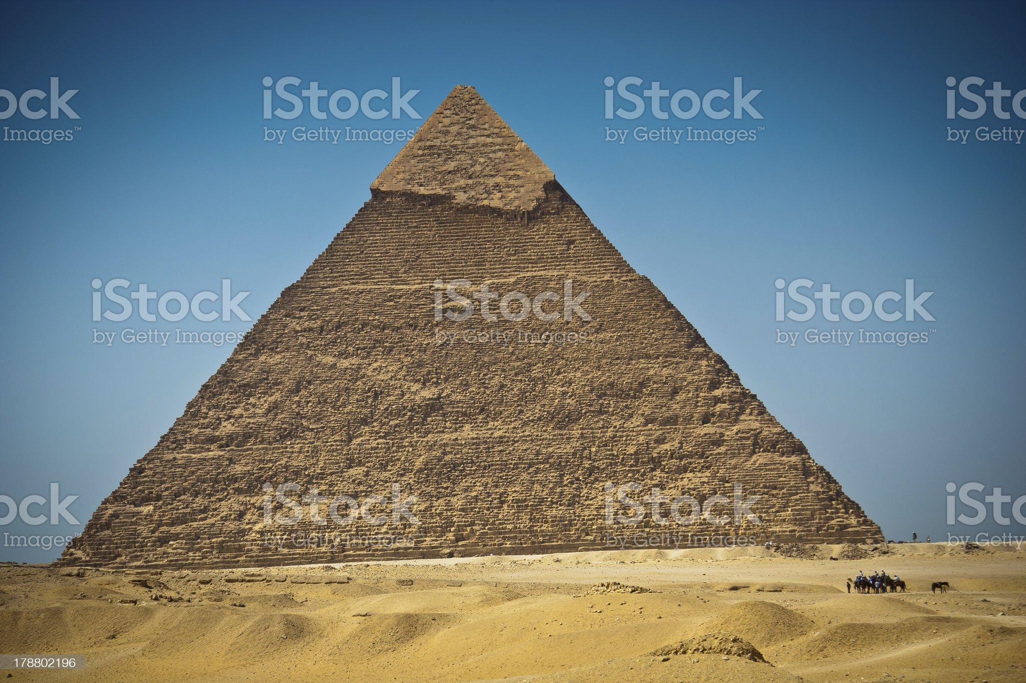 Great Pyramid of Giza, Egypt royalty-free stock photo