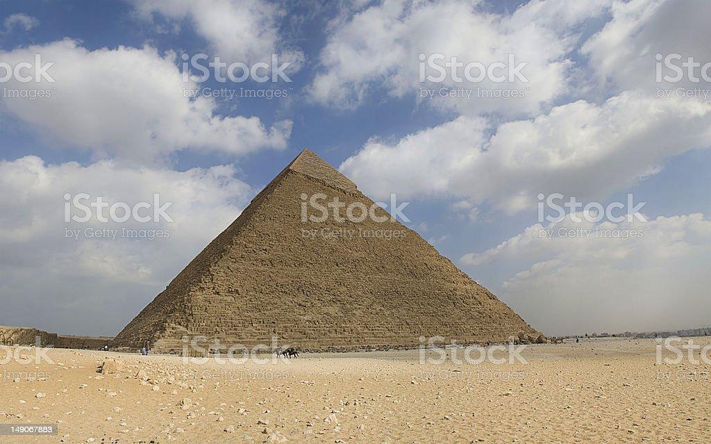 Great Pyramid of Giza royalty-free stock photo