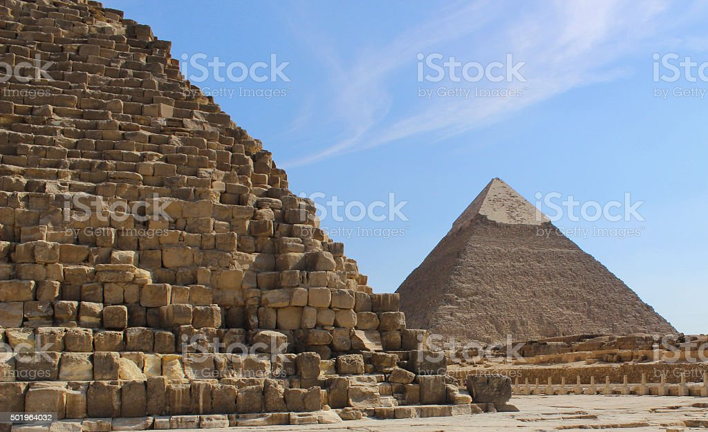Great pyramid of Gyza stock photo