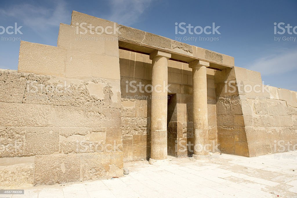 Great pyramids complex in Giza valley royalty-free stock photo