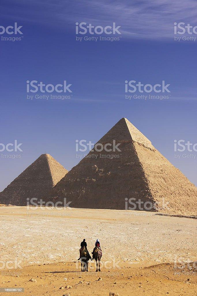 Great Pyramids of Giza, Cairo royalty-free stock photo