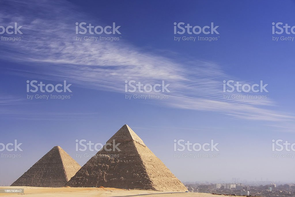Great Pyramids of Giza, Cairo royalty-free stock photo