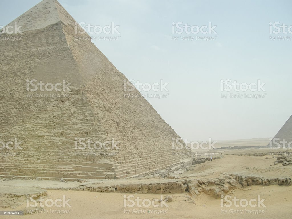 Great Pyramids of Giza in Egypt stock photo