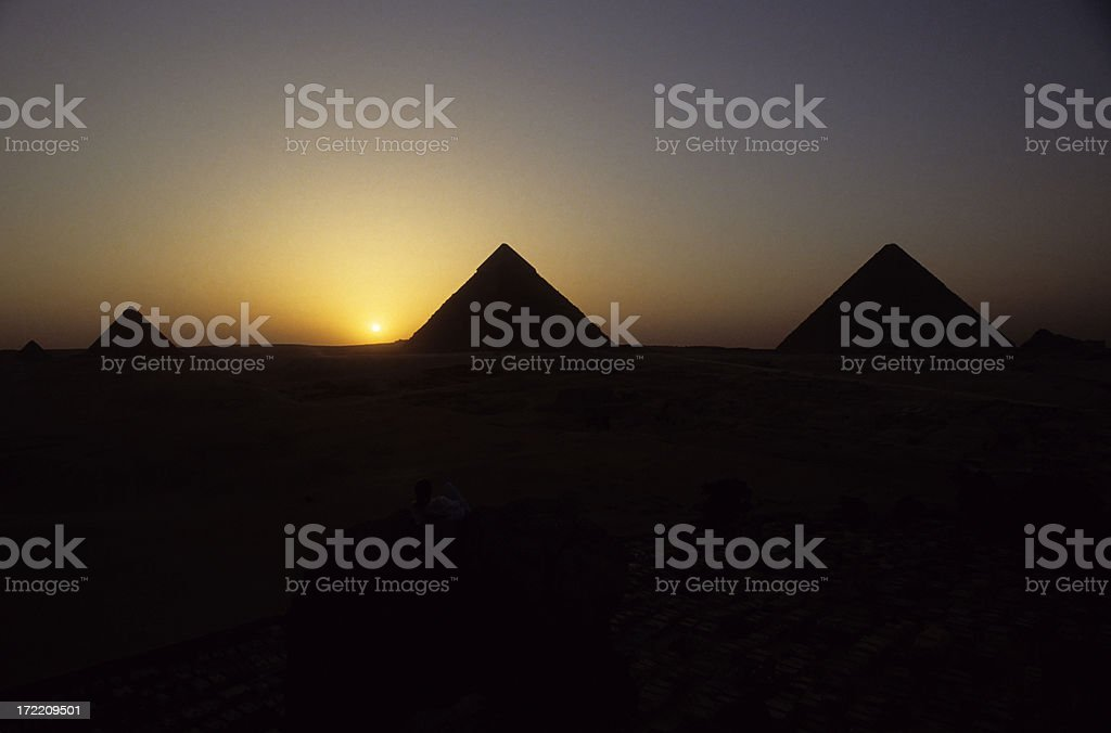 Great Pyramids of Giza royalty-free stock photo
