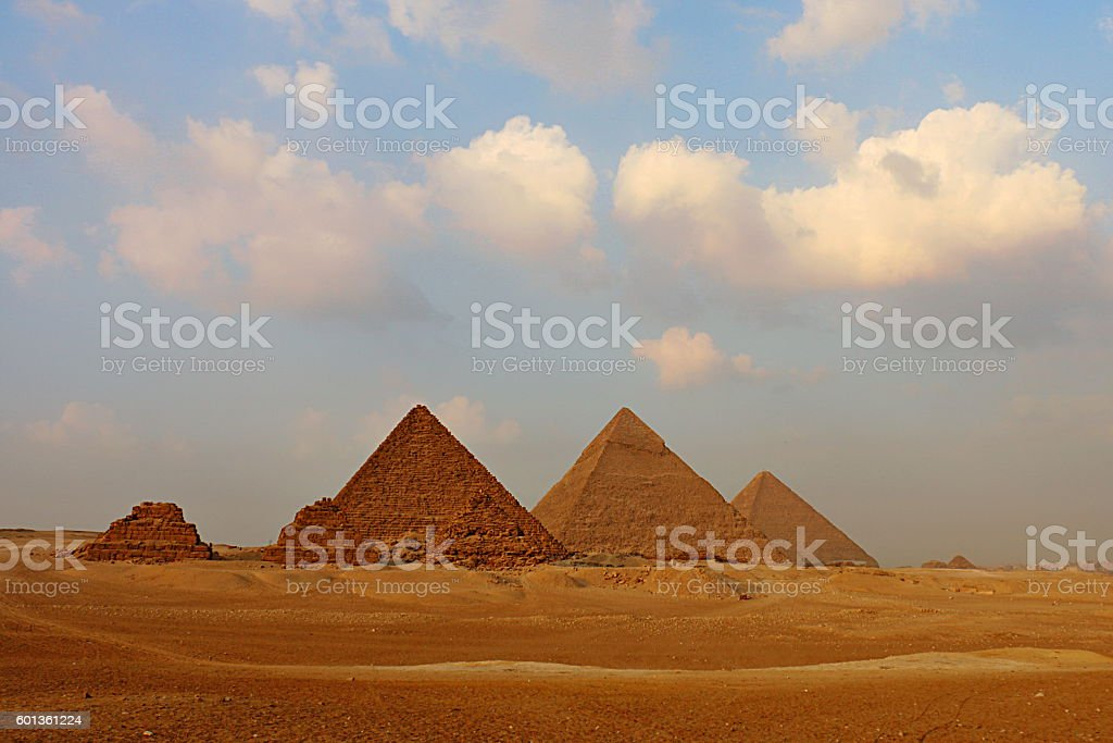 Great Pyramids on the Giza Plateau stock photo