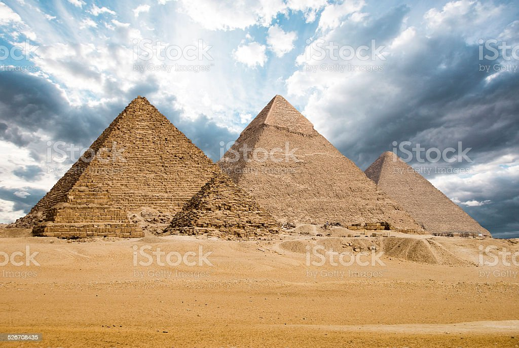Great Pyramids stock photo