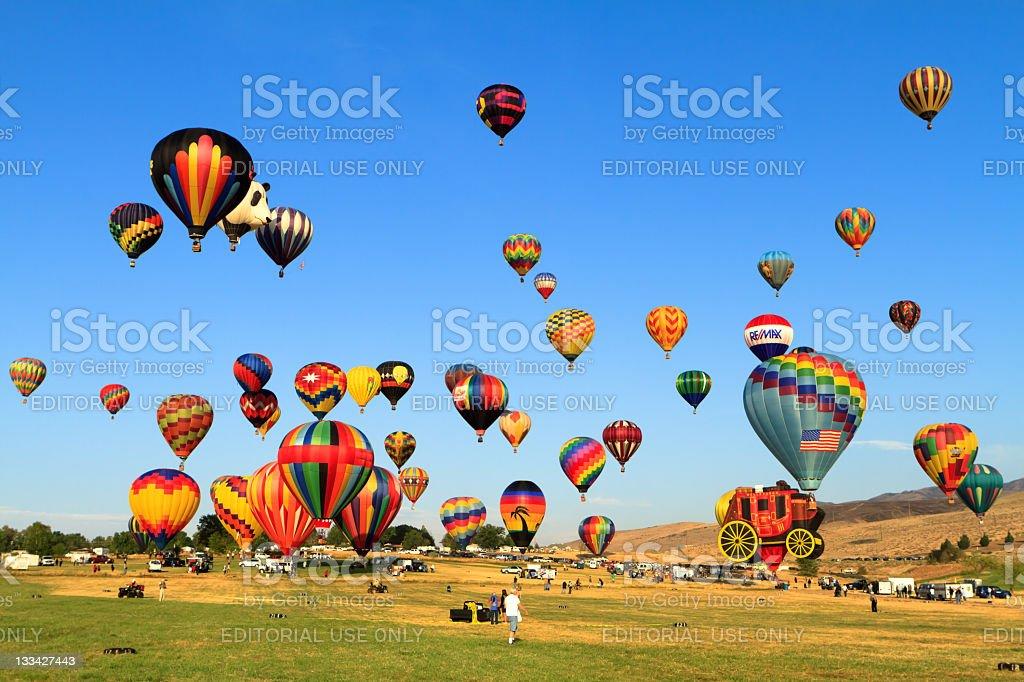 Great Reno Balloon Races stock photo