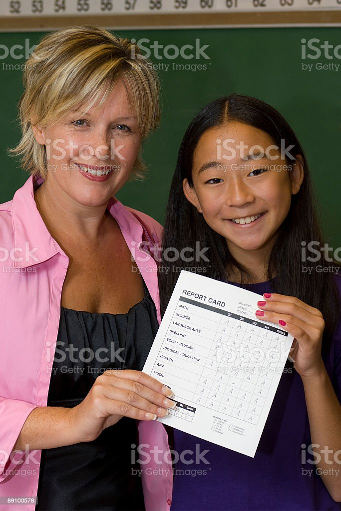 Great Report Card royalty-free stock photo