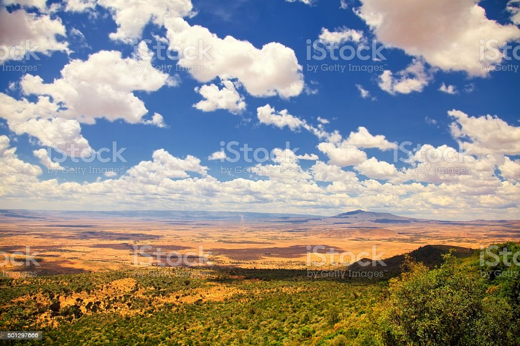 Great Rift Valley stock photo