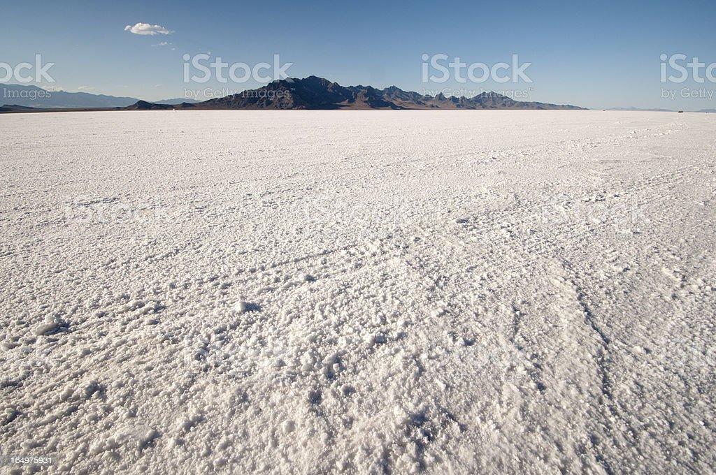 Great Salt lake desert in Bonneville stock photo
