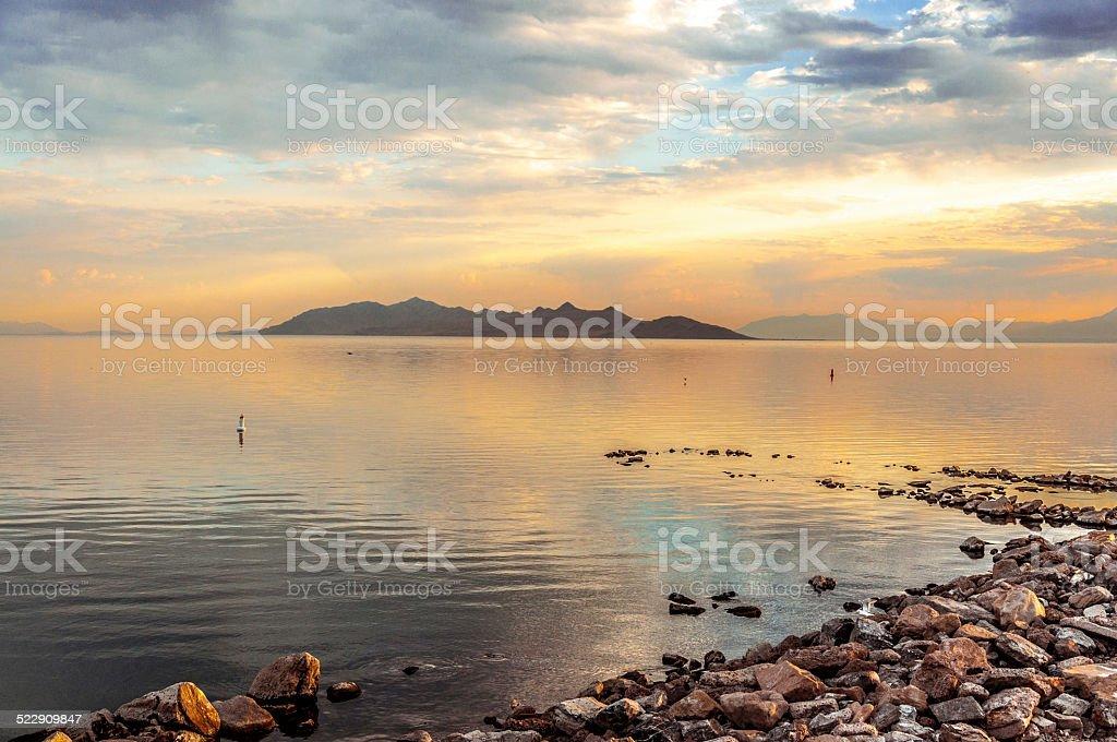 Great Salt Lake royalty-free stock photo