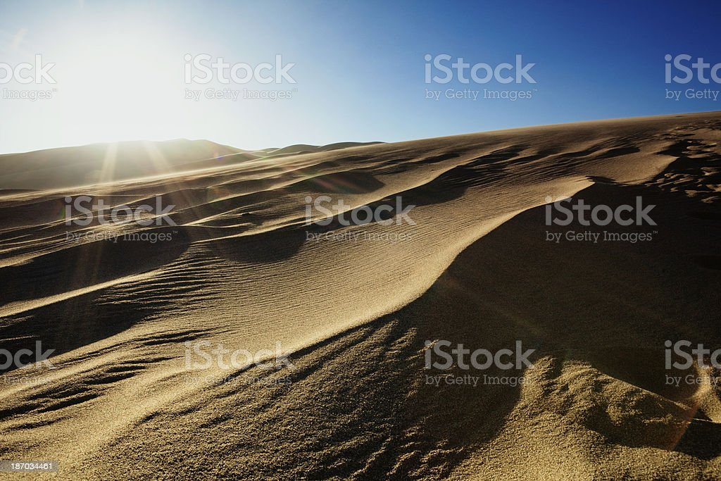 Great Sand Dunes National Monument stock photo