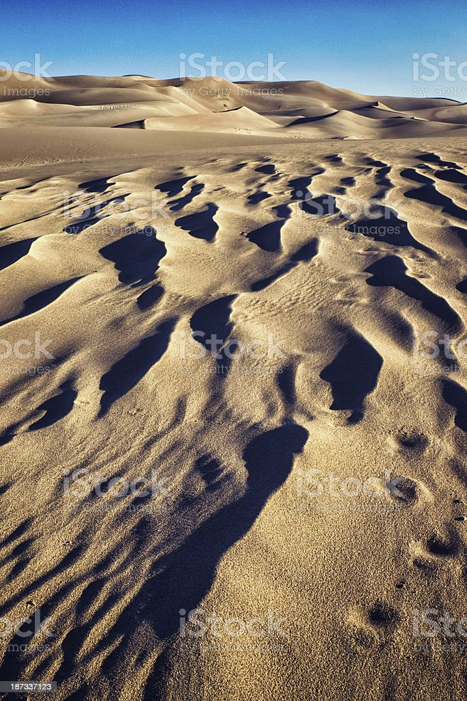 Great Sand Dunes National Monument royalty-free stock photo