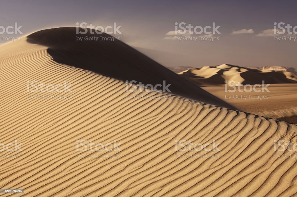 Great Sand Sea in sahara desert near siwa, western Egypt stock photo