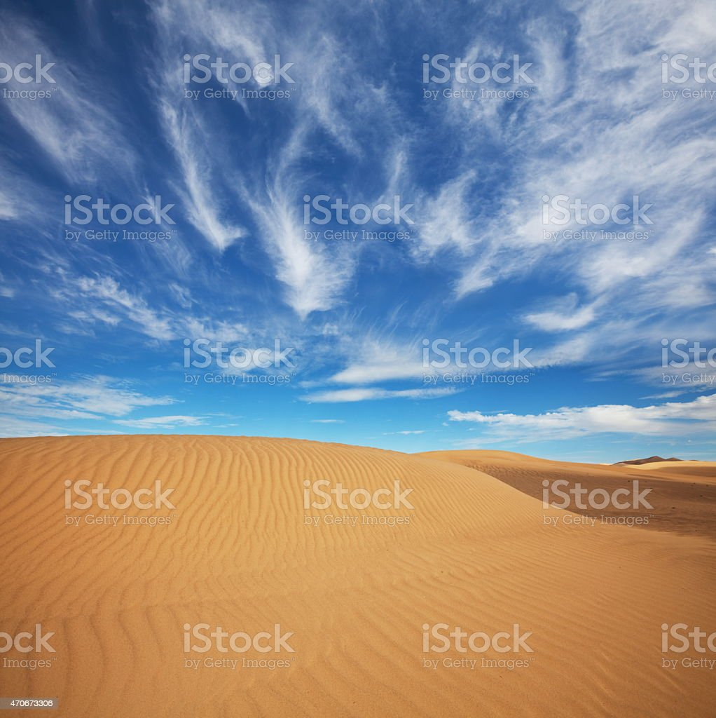 Great Sand Sea stock photo