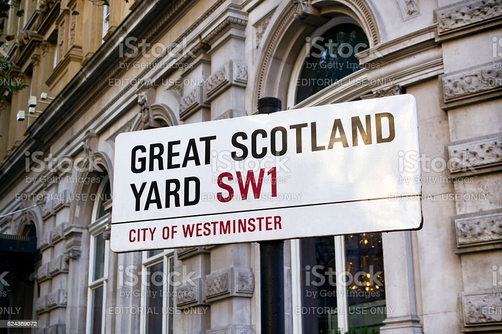 Great Scotland Yard - street sign in London stock photo